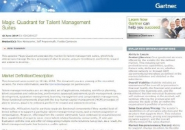 Gartner Magic Quadrant for Talent Management Suites
